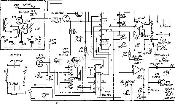 эчки А (выхода детектора) равен сумме напряжений на...  Рис.  XII.12, Схемы синхронного детектора с фрагментом...