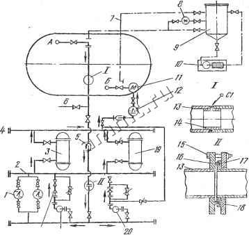 На рисунке 1 показана принципиальная схема водомасляного охлаждения трансформатора.